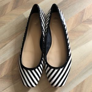 Kate Spade Striped Patent Leather Demi Flats